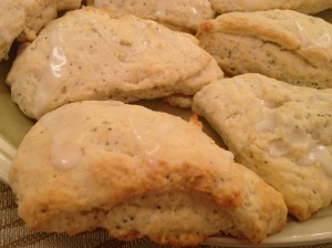 scones with glaze
